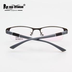 Image 4 - Prescription Eyeglasses Men Glasses Frame Rectangle Design Optical Glasses Myopia Progressive Resin Lenses Spectacles 961