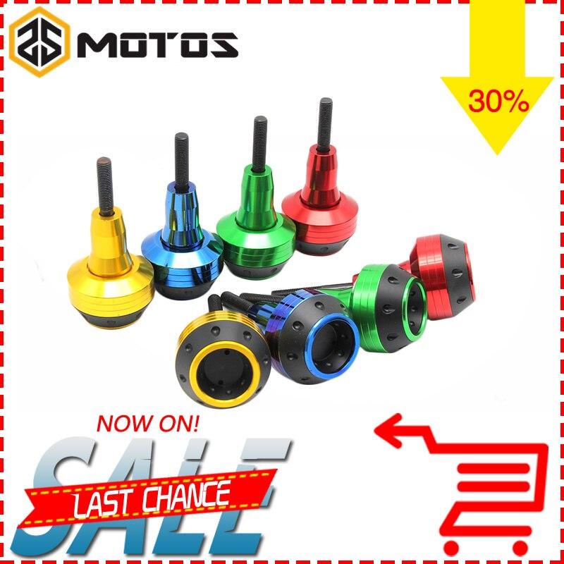 ZS MOTOS Universal CNC Motorcycle Engine Frame Slider Fairing Guard Crash Pad Side Protector For HONDA Kawasaki Suzuki