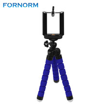 Mini Portable Flexible Tripod with Phone Holder Bracket Stand Tripod Kit for iPhone6s 7 Xiaomi Samsung HTC Cellphone DSLR Camera(China)