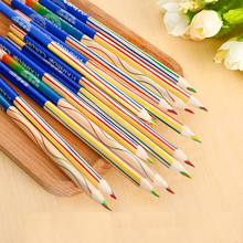 10PCS Rainbow Color Pencil Set 4 Mixed Colors Professional Pencils DIY School Supplies for Kids Graffiti Drawing Cute Stationery
