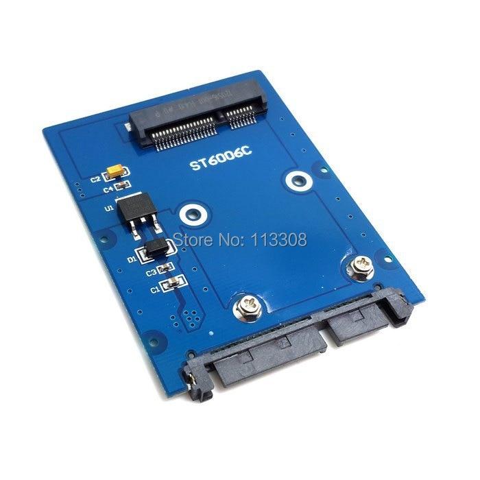100pcs / lots Slim Type Mini PCI-E mSATA SSD to 2.5 SATA 3.0 22pin HDD Adapter Hard Disk PCBA,By Fedex DHL UPS cy u3 179 bk 50mm mini pci e msata 6gbps solid state ssd to usb 3 0 hard disk enclosure black