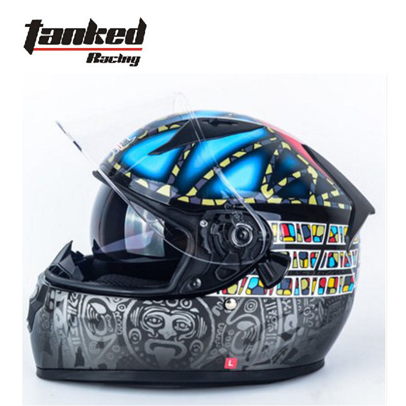 2017 winter Germany Tanked Racing Full Face Motorcycle Helmet ABS Double lens Motorbike Helmets Moto Riding equipment protection lexin 2pcs max2 motorcycle bluetooth helmet intercommunicador wireless bt moto waterproof interphone intercom headsets