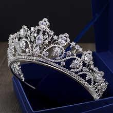Big Paved Zircon Crown Full Cubic Zirconia Tiara CZ Tiaras Vintage Bridal Diadema Wedding Hair Accessories Coroa Noiva WIGO1168 - DISCOUNT ITEM  30% OFF All Category