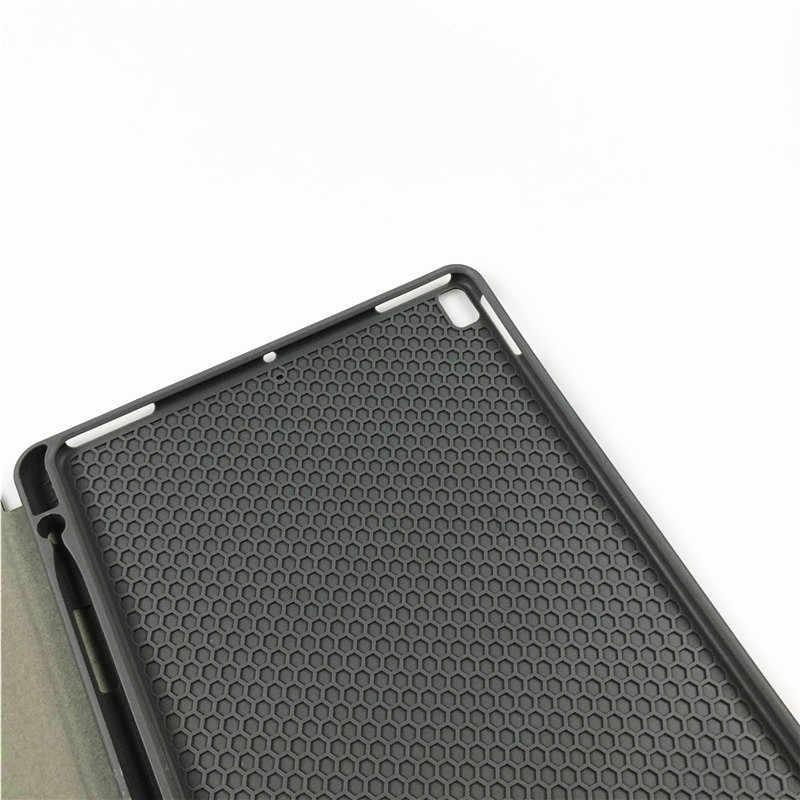 ل أي باد برو من أبل 9.7 مع حامل القلم الرصاص لينة سيليكون حامل الذكية حافظة لجهاز ipad 5/6 اللوحي غطاء لجهاز ipad air 1/2 + شاشة