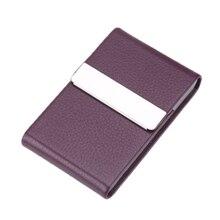 Business Card Holder Storage Bag Leather Card Metal Box Busi