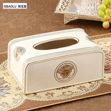 10″ Tissue box  Ivory ceramic table tissue boxes Removable tissue paper box living room decorations