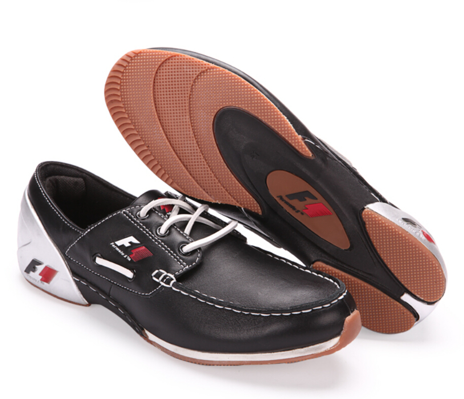 933d4444171 ... best wholesaler 96753 5bf84 New 2014 Fashion Leather F1 Moto Cars  Driving Shoes Red 3 Colors ...