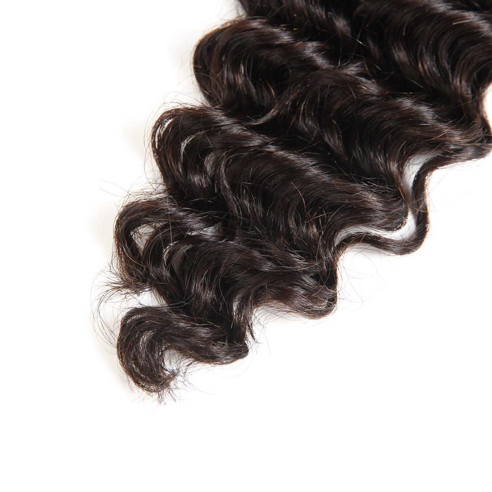 Rebecca малазийские Remy глубокая волна объемные человеческие волосы для плетения 1 пучок от 10 до 30 дюймов натуральный цвет для наращивания прямые волосы