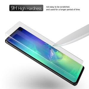 Image 5 - UV זכוכית לסמסונג גלקסי S10 בתוספת מסך מגן זכוכית מחוסמת לגלקסי S10 S10Plus מעוקל כיסוי סרט S10 +
