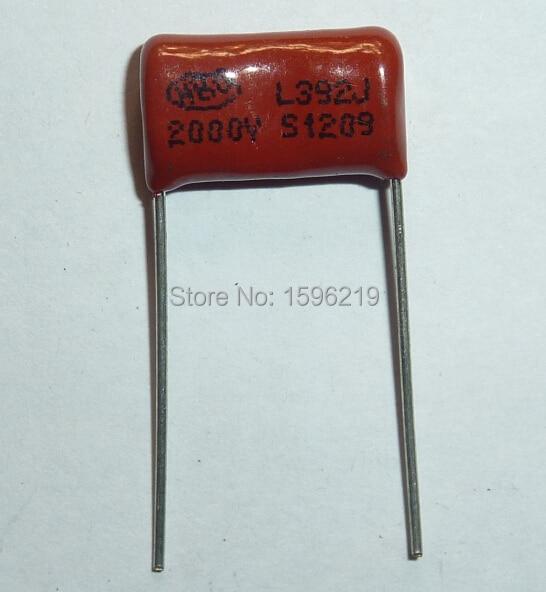 20pcs CBB Capacitor 392 2000V 392J 2KV 3900pF 3.9nF P15 CBB81 Metallized Polypropylene Film Capacitor