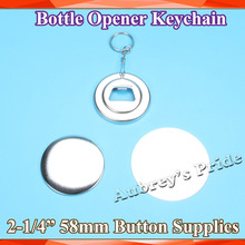 Bottle-Opener Badge Badge-Button-Supply-Materials 58mm Keychain for NEW Professional