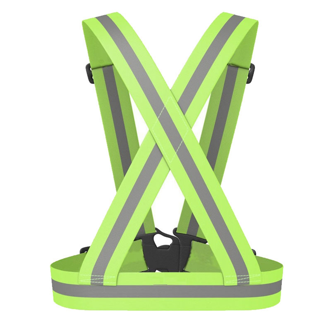 MOOL Reflective Safety Vest Reflective Belt Visibility Cross Belt Band Harness Belt Waist Belt, Green belt husky belt