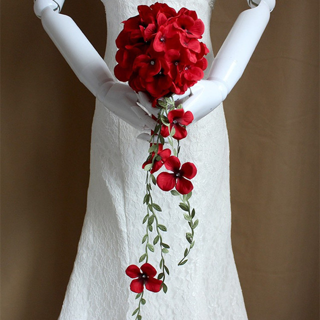 2016 New Bridesmaid Wedding Decoration Colorful Rose Bridal bouquet White Satin Romantic Wedding bouquet Flowers Bride
