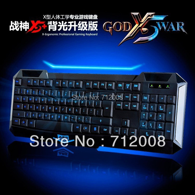 A-JAZZ New AJAZZ X5+ USB Backlit LED Illuminated Ergonomic Game Gaming Keyboard Drop Shipping