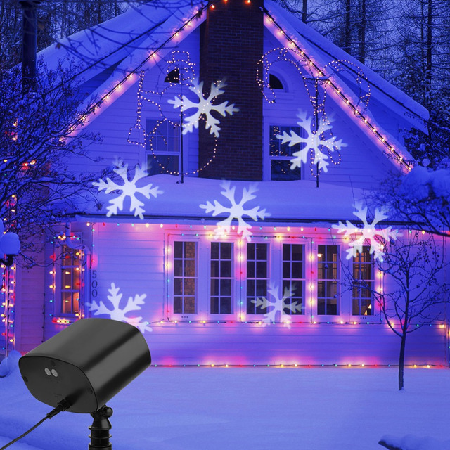 9W LED Snowfake Projector Light Christmas Decorations Light Indoor Outdoor  Waterproof Landscape Light - 9W LED Snowfake Projector Light Christmas Decorations Light Indoor