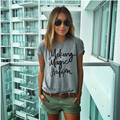 Women's Summer street style Letter Printing O-Neck T-Shirt Brand Design Short Sleeve Tops T Shirt Plus Size T7-8