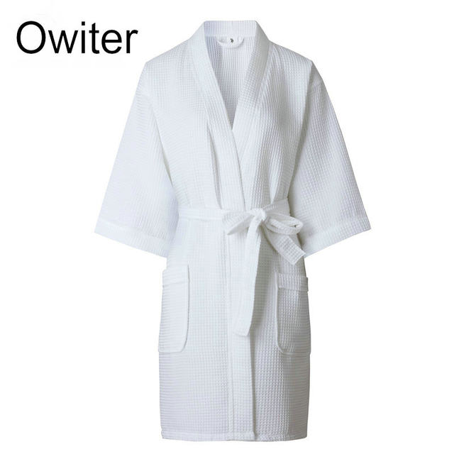 Online Shop Ladies Womens Waffle Bath Robe 100% Cotton Dressing gown ...