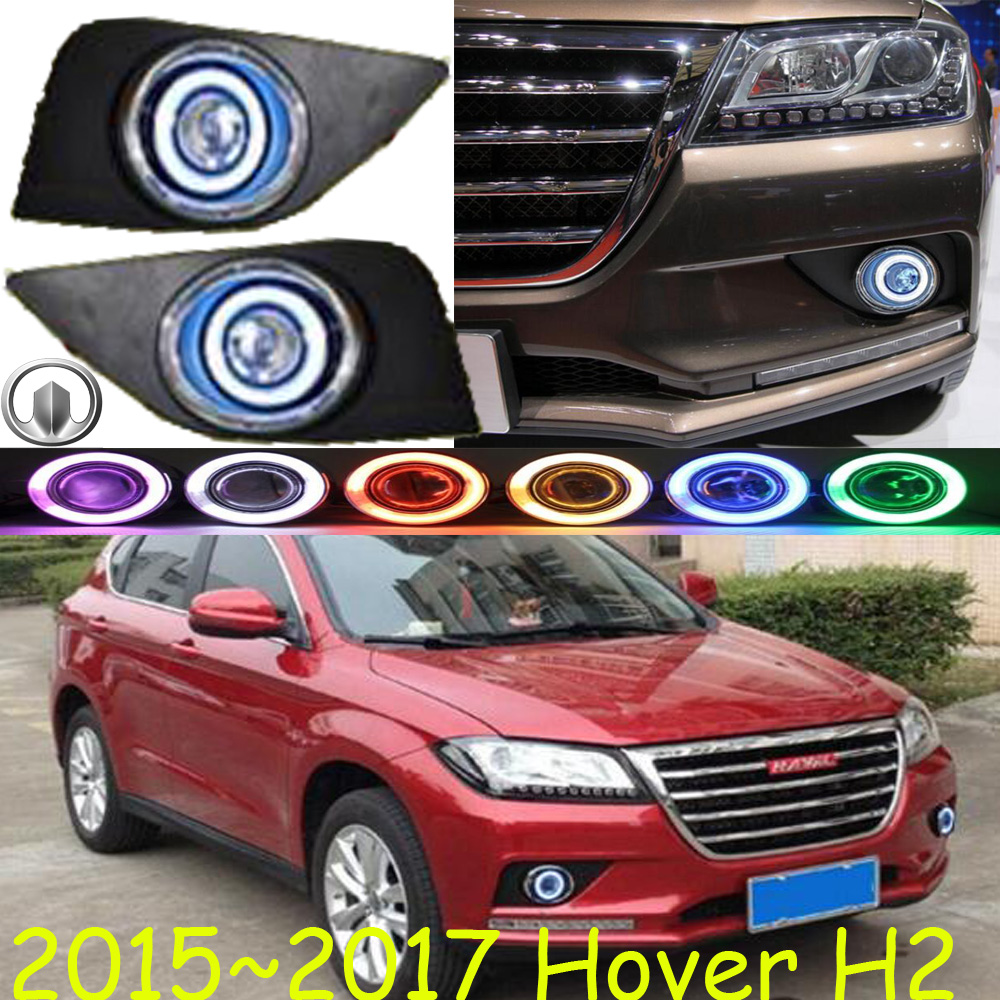 Great Wall Hover H2 fog light;2015~2017 Free ship!Hover H2 daytime light,2ps/set+wire ON/OFF:Halogen/HID XENON+Ballast,Hover H2 б у авто great wall wall hover 2 4p mt 5w