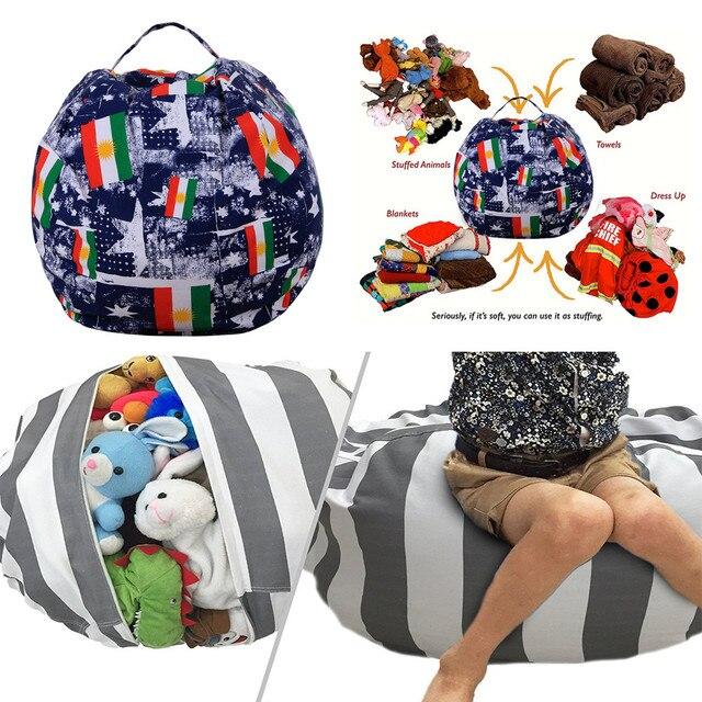 Modern Creative Storage Stuffed Animal Storage Bean Bag Chair
