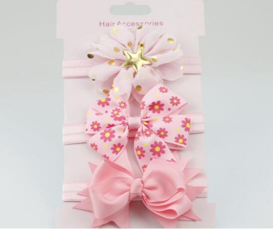 ON SALE 3pcs set bowknot headband skinny soft nylon headband bud Flower  headdress Hair band AccessoriesUSD 2.16 lot b6926a6cd6a
