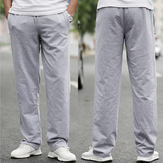 גודל: M-6XL איש של מקרית ספורט מכנסיים 100% כותנה איש footall כדורגל voetbal אימון מכנסי טרנינג
