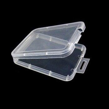 centechia Transparent 10 Pcs CF card box memory card case Compact Flash Card Case Transparent Eco-friendsly Plastic Case цена 2017