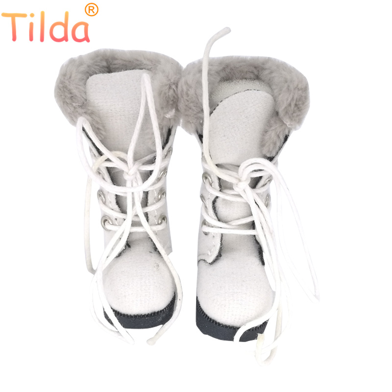 Tilda 1/6 Doll Boots Shoes For Blythe BJD Doll,3.2cm Mini Winter Style Leather Shoes for Blyth Pullip Accessories for Dolls Toy цена