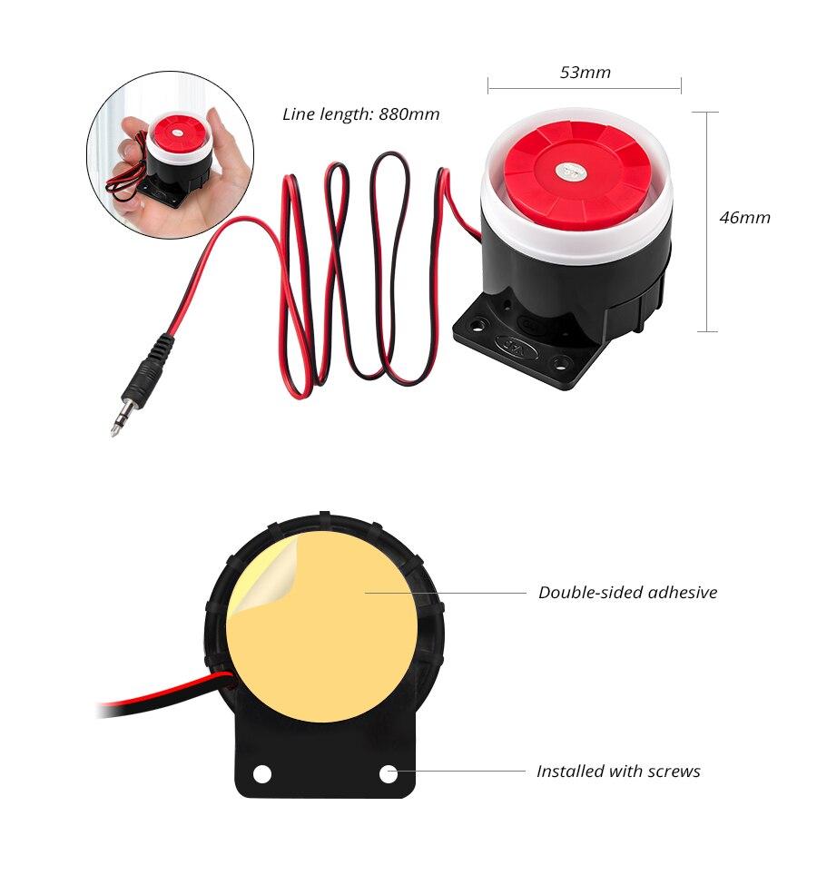 Security Alarm 2019 Fashion 1sets Mini Wired Strobe Siren Durable 12v Sound Alarm Strobe Flashing Red Light Sound Siren Home Security Alarm System 115db Alarm Siren