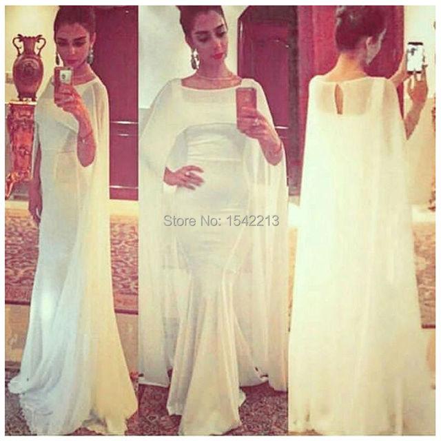 con Vestido Del Envío Noche Blanco El Barato Abrigo de Formal Sirena wqCgSIT