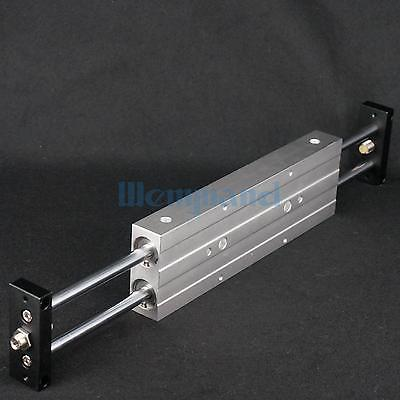 STMB25x200 Dual Rod Cylinder Bore 25mm Stroke 200mm Air Slide Table Cylinder With Magnet STMB25-200 mgpm63 200 smc thin three axis cylinder with rod air cylinder pneumatic air tools mgpm series mgpm 63 200 63 200 63x200 model