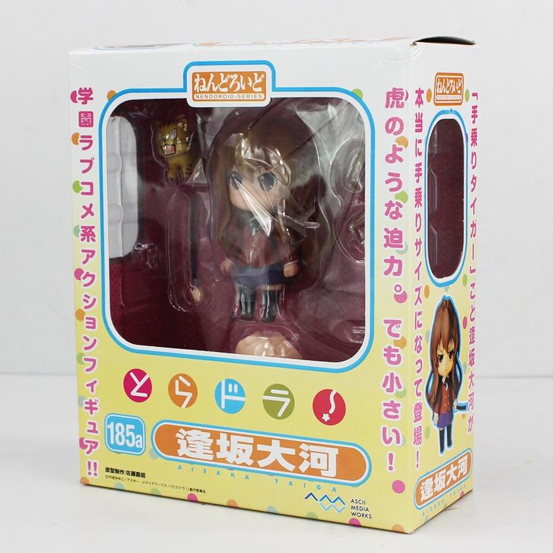 Free Shipping Cute Anime Nendoroid 185a Toradora 10c Aisaka Taiga PVC Mini Action Figure puppet Toy