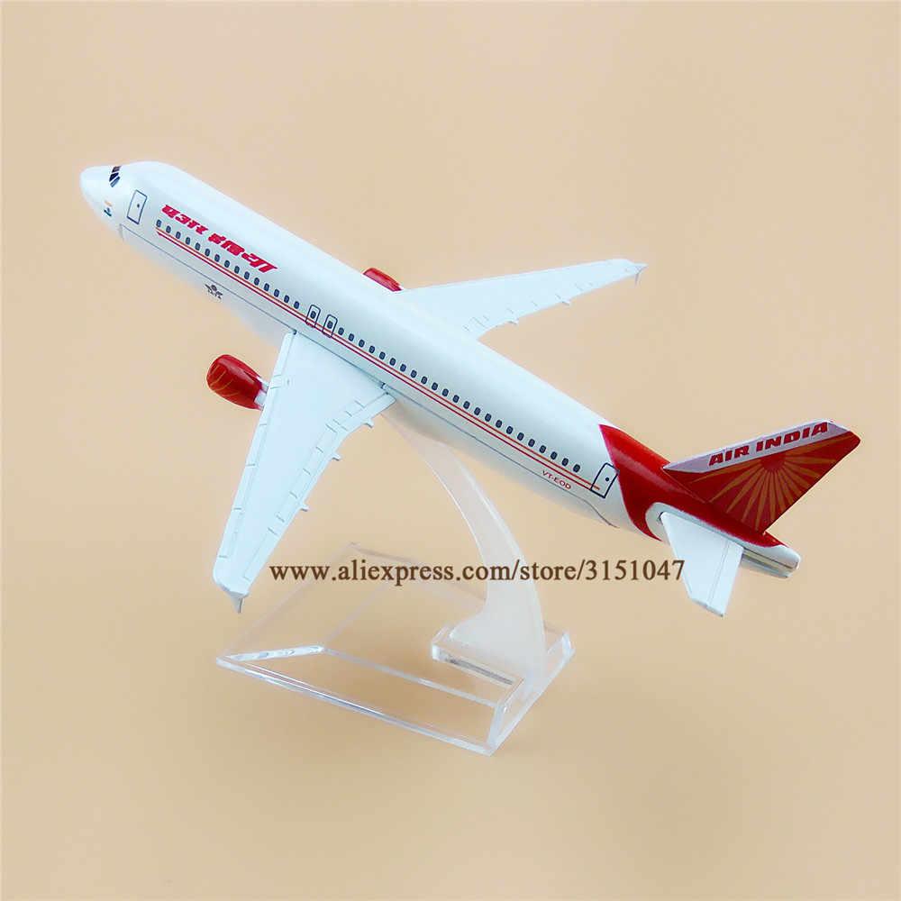 16 cm Air India A320 Airbus 320 aerolíneas avión modelo de aleación de Metal avión fundición regalo niños regalo para niños Juguetes
