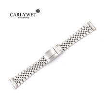 CARLYWET 19 20mm Wholesale Hollow Curved End Solid Screw Links Replacement Jubilee Watch Band Bracelet Loops For Datejust