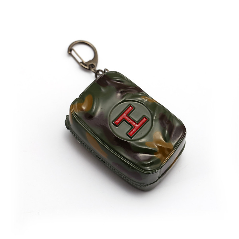 Новая сумка первой помощи PUBG брелок большой обработки металла коробка Подвеска Pubg кольцо для ключей порте скрипичный ключ может открыть су...
