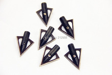 Longbowmaker 6PK Metal Broadheads 131 Grain 4.2 cm Hunting Practice Arrowheads in Black M13