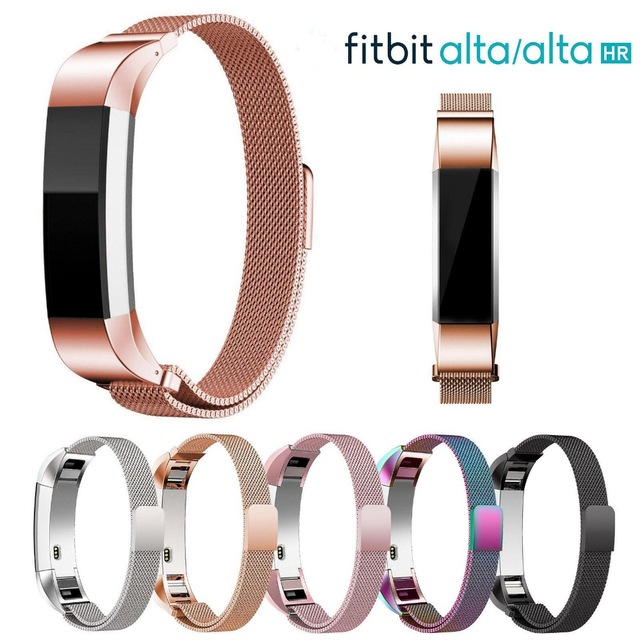 Belt Bracelet Monitor Replacement Smart-Watch Fitbit Stainless-Steel Milanese Alta Strap