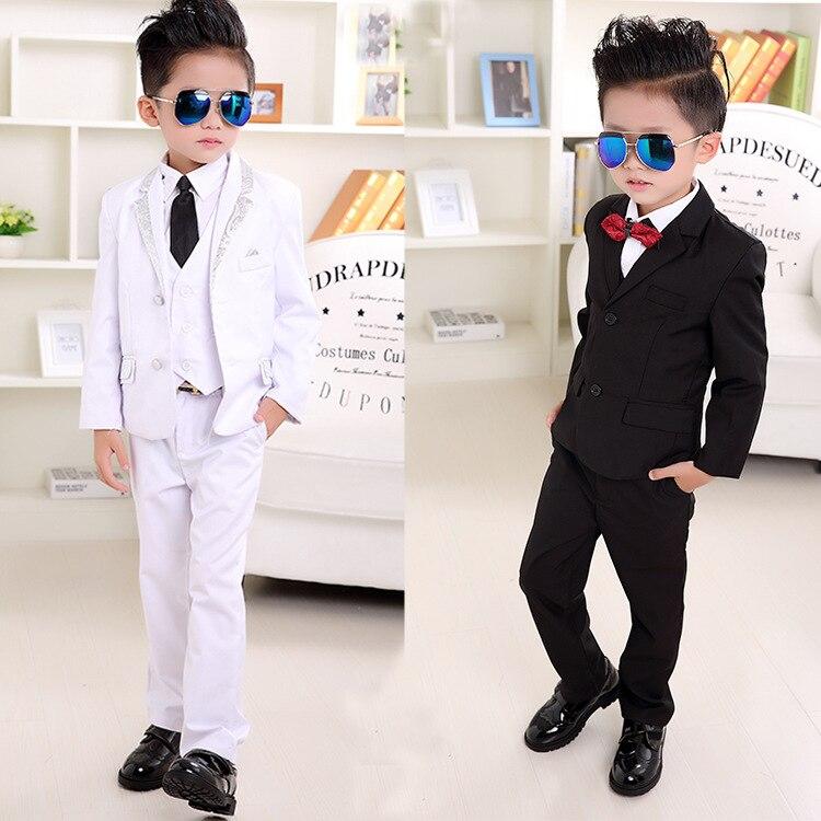 Wedding White Or Blue Shirt: Boy Wedding Suit Flower Boy Black White Gray Blazers Coat