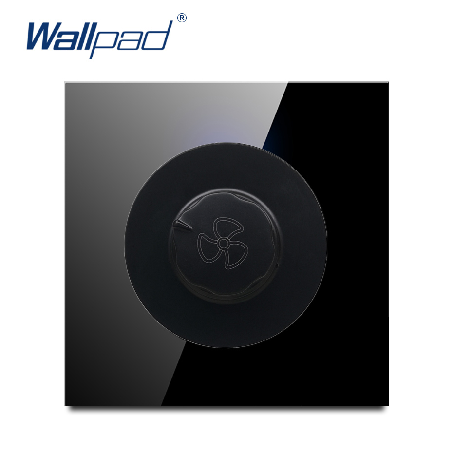 Wallpad 2019 New Arrival Fan Switch Speed Regulator Wall Light Switch Crystal Glass PanelWallpad 2019 New Arrival Fan Switch Speed Regulator Wall Light Switch Crystal Glass Panel