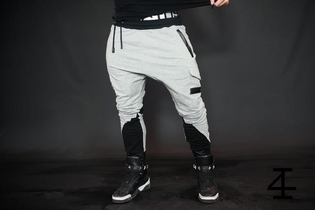 Alta moda hip hop hombres basculador pantalones de carga de algodón masculina culturismo gimnasio pantalones casual pantalones de chándal para hombre