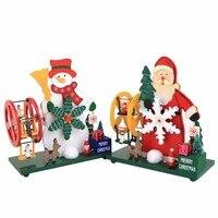 Especial de Natal DIY Moinho de Vento Caixa de Música Rotativa Caixa de Música de Decoração Para Casa De Madeira para Brinquedos Dos Miúdos Das Crianças O Melhor Presente