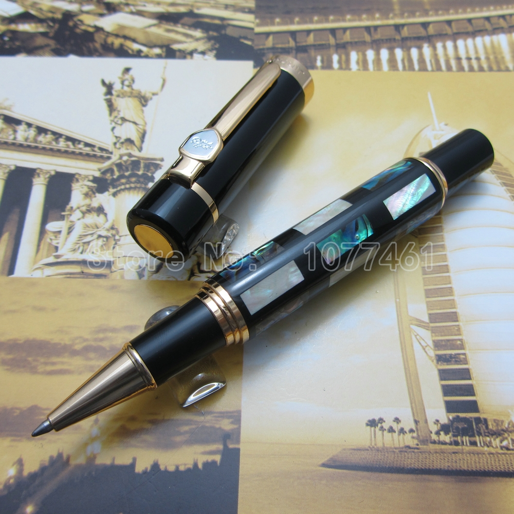 Jinhao Roller ball Pen Bright Pearl Dark Green Sea Shell With Gift Box J77KC3 jinhao ancient dragon playing pearl roller ball pen with jewelry on top with original box free shipping