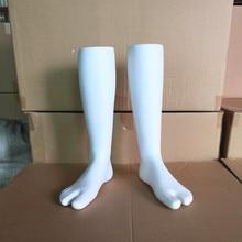 One Pair Male Mannequin Feet,White Manikin Foot For MensSock Display