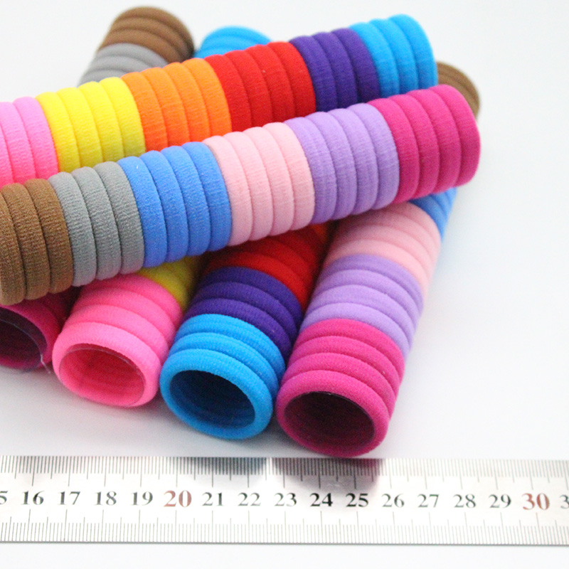 50pcs/lot 3cm kids hair rope  Hair Accessories Scrunchy Elastic Hair Bands Girls decorations HairBand Rubber Band gum for hair
