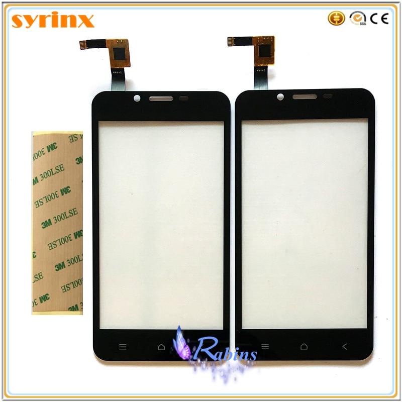 SYRINX Téléphone Écran Tactile Capteur Pour DEXP Ixion X140 Aspect Écran Tactile Digitizer Avant Tactile En Verre Panneau + 3 m Autocollant