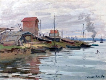High quality Oil painting Canvas Reproductions The Seine at Petit-Gennevilliers (1872)  By Claude Monet hand painted