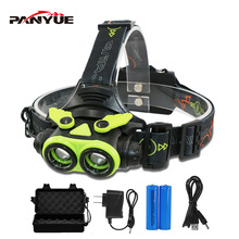 PANYUE Bright light Headlight Head light 2000 Lumen XM-L2 10W Aluminum USB Rechargeable Zoomable LED Head Lamp Headlamp boruit 3000lm xm l2 led rechargeable head front bicycle light bike lamp headlamp