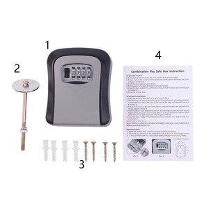 Image 4 - Organizador de parede, durável, caixa secreta de armazenamento de chave de liga de zinco com 4 dígitos, combinação de senha, equipamentos de segurança