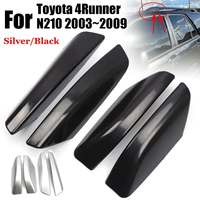 4PCS/Set Glossy Black/Silver ABS Plastic Roof Rack Bar Rail End Replacement Cover Shell For Toyota 4Runner N210 2003~2009