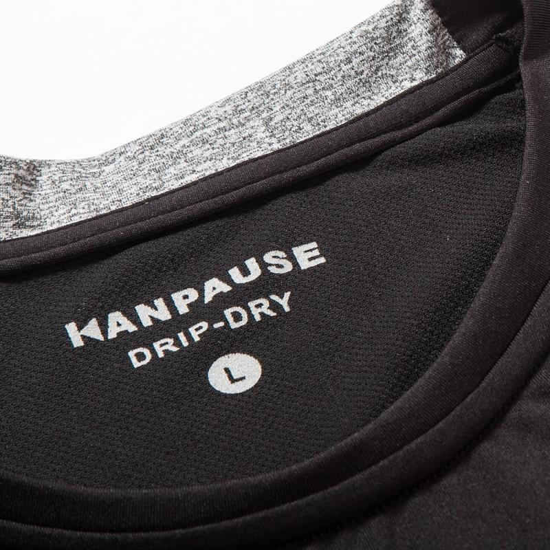 Nowość Męska koszulka treningowa z krótkim rękawem KANPAUSE - Ubrania sportowe i akcesoria - Zdjęcie 3