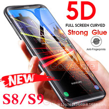 5D Full Curved Tempered Glass For Samsung Galaxy S7 S8 S9 Plus Screen Protector For Samsung Note 8 9 S7 A6 A8 2018 Film(China)